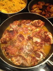 Sage Chicken & Yellow Rice with Maduros