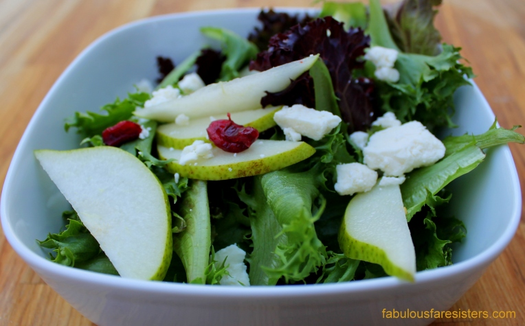 Pear, Cranberry & Feta Salad