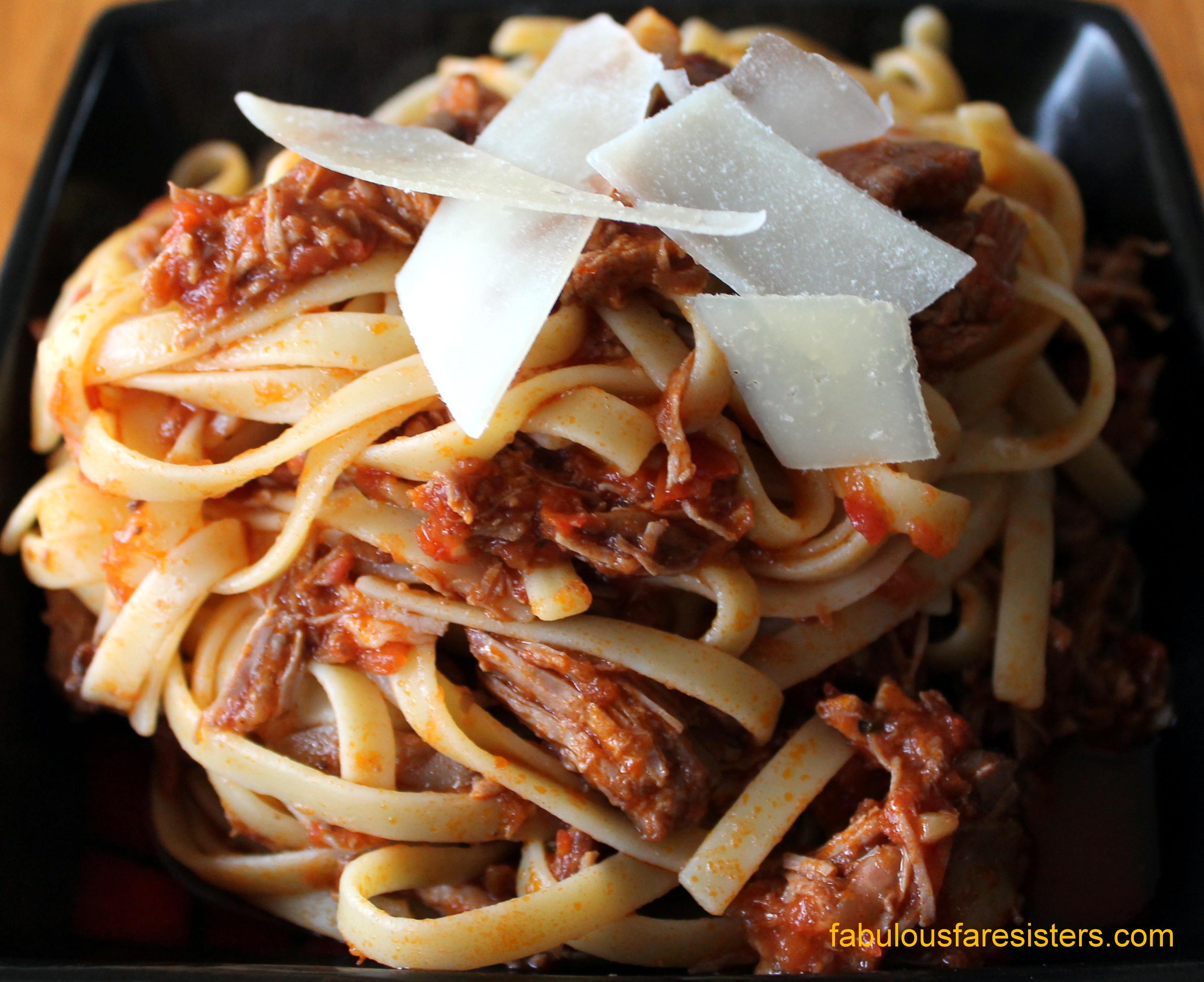 Pork Ragu with Fettuccine – Fabulous Fare Sisters