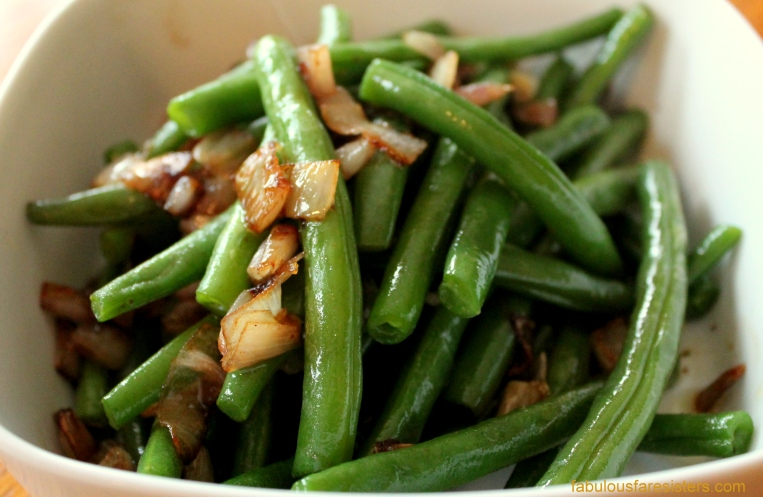 Green Beans with Sautéed Shallots