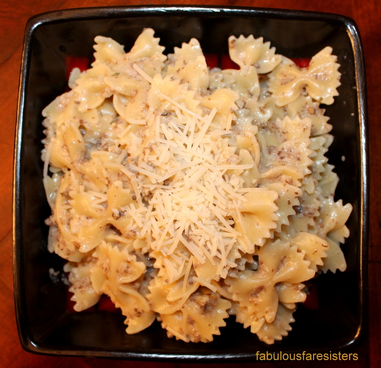Farfalle with Mushroom Cream Sauce