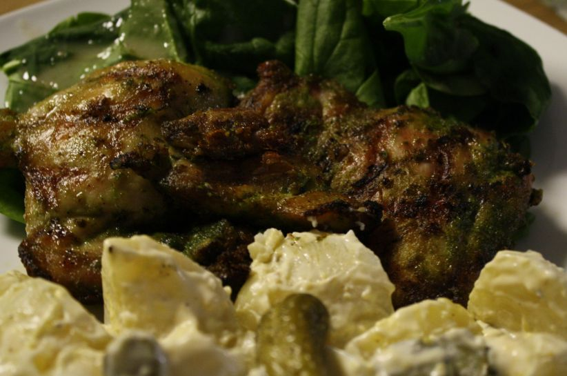 Marinated Grilled Chicken with Kosher Dill Pickle Potato Salad fabulousfaresisters.com
