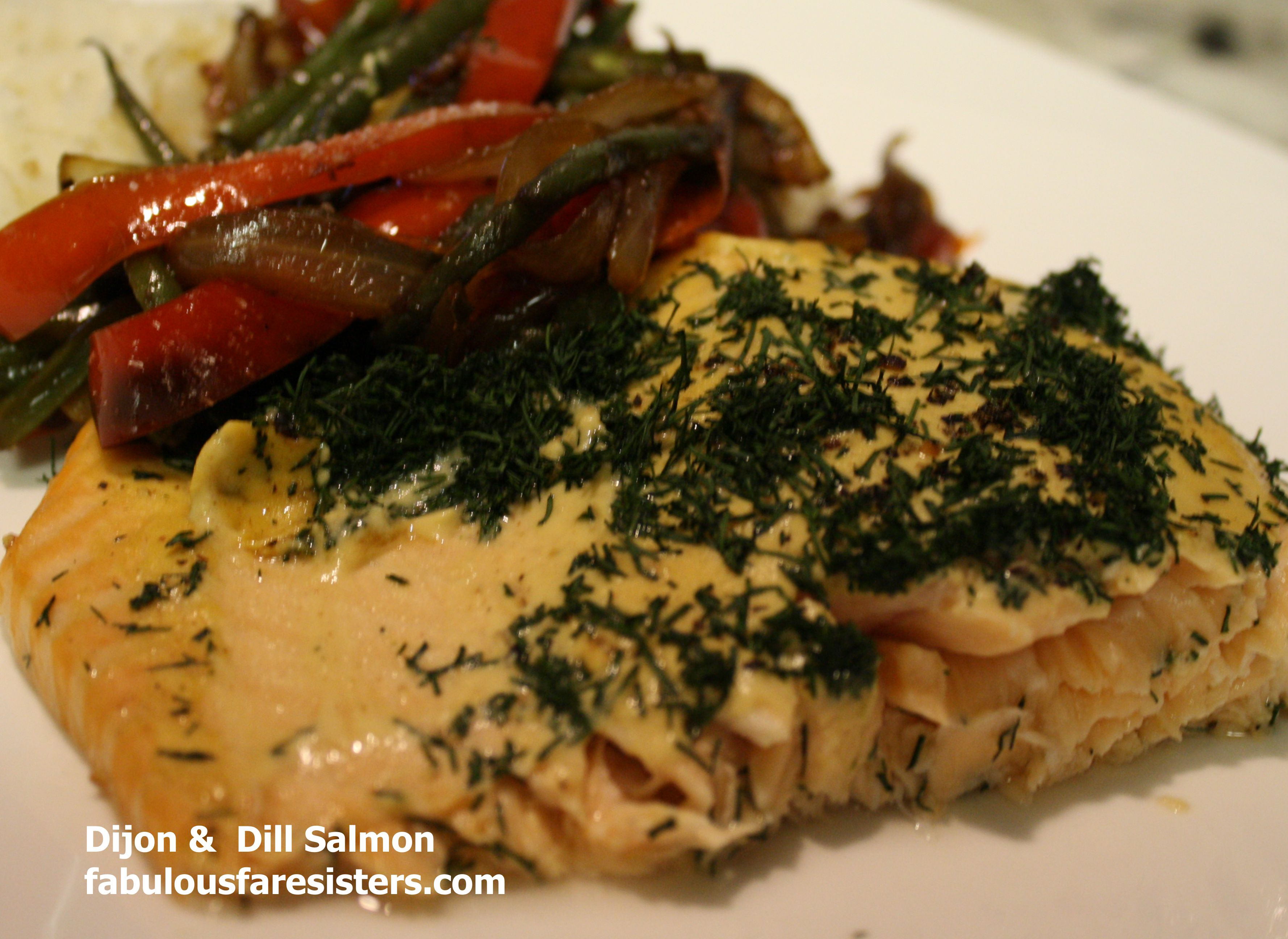 ... salmon. Well tonight is my honey's salmon supper. I made the veggies