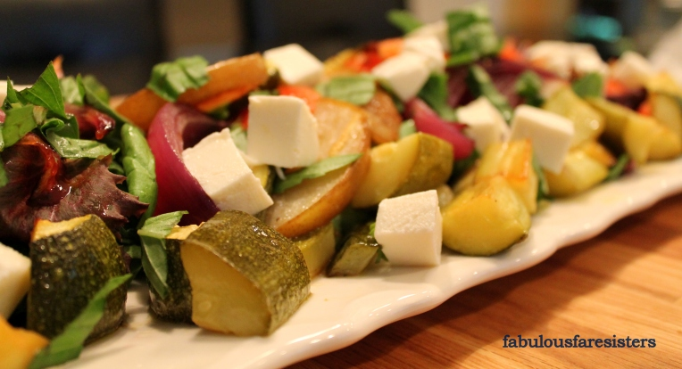 Roasted Vegetable & Pear Salad
