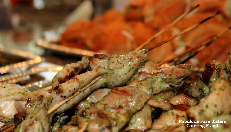 Save The Date Catering Event / Rosemary Chicken Satay