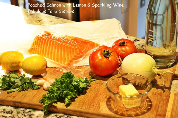 Poached Salmon with Lemon & Sparkling Wine 1