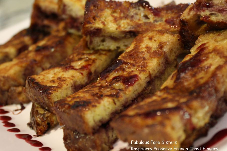 Raspberry Preserve French Toast Fingers 2
