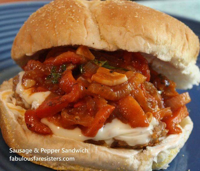Sausage & Pepper Sandwich