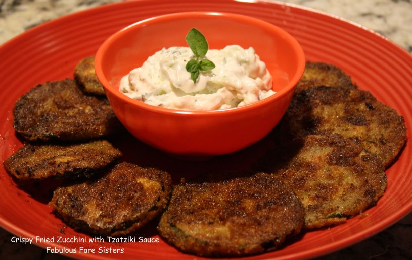 Crispy Fried Zucchini with Tzatziki Sauce