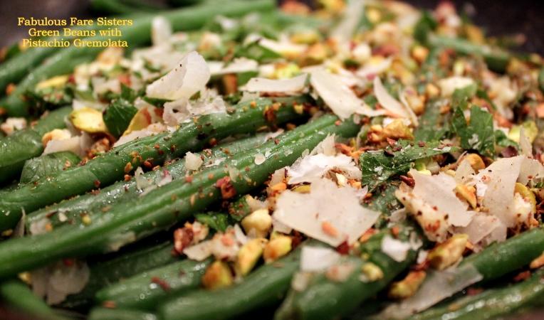 Green Beans with Pistachio Gremolata
