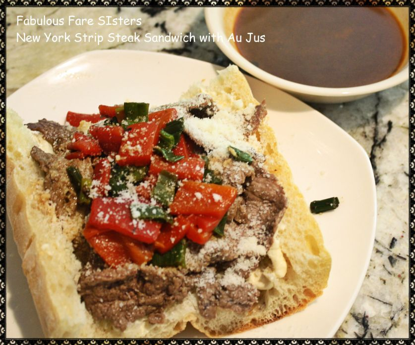New York Strip Steak Sandwich with Au Jus