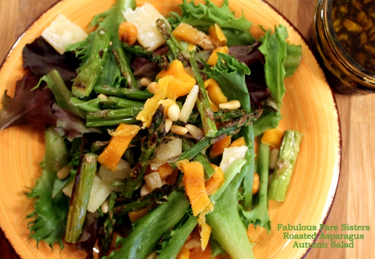 Roasted Asparagus Autumn Salad