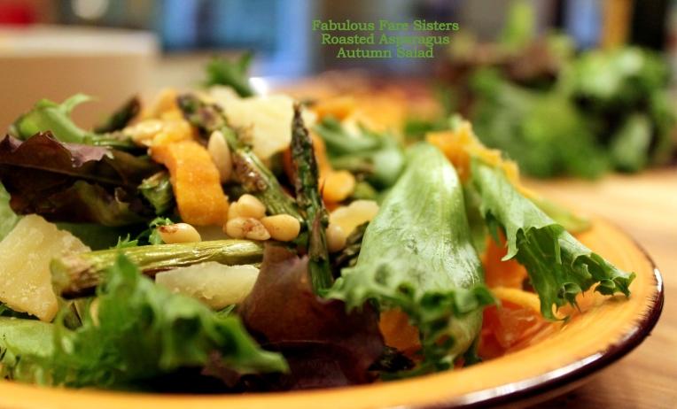 Roasted Asparagus Autumn Salad