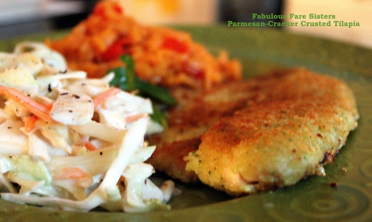Parmesan-Cracker Crusted Tilapia