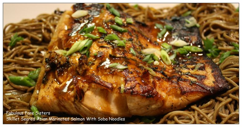 Skillet Seared Asian Marinated Salmon