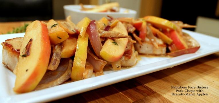Pork Chops with Brandy-Maple Apples