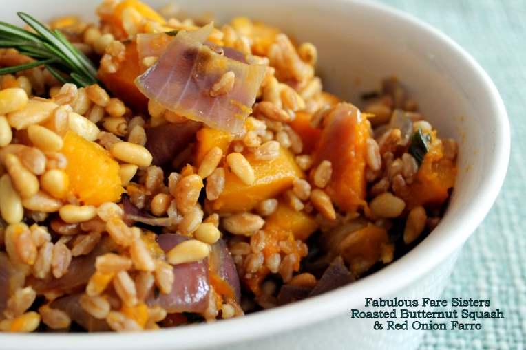 Meatless Monday: Roasted Butternut Squash & Red Onion Farro ...