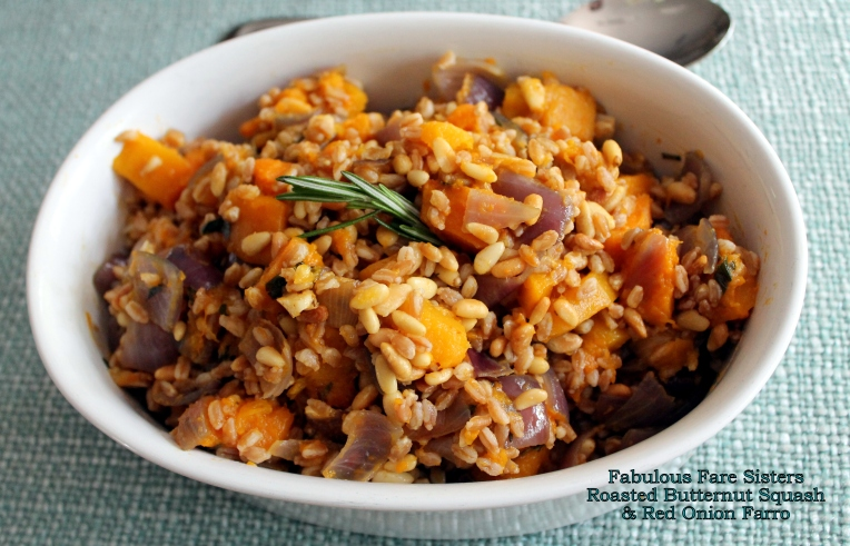 Roasted Butternut Squash & Red Onion Farro