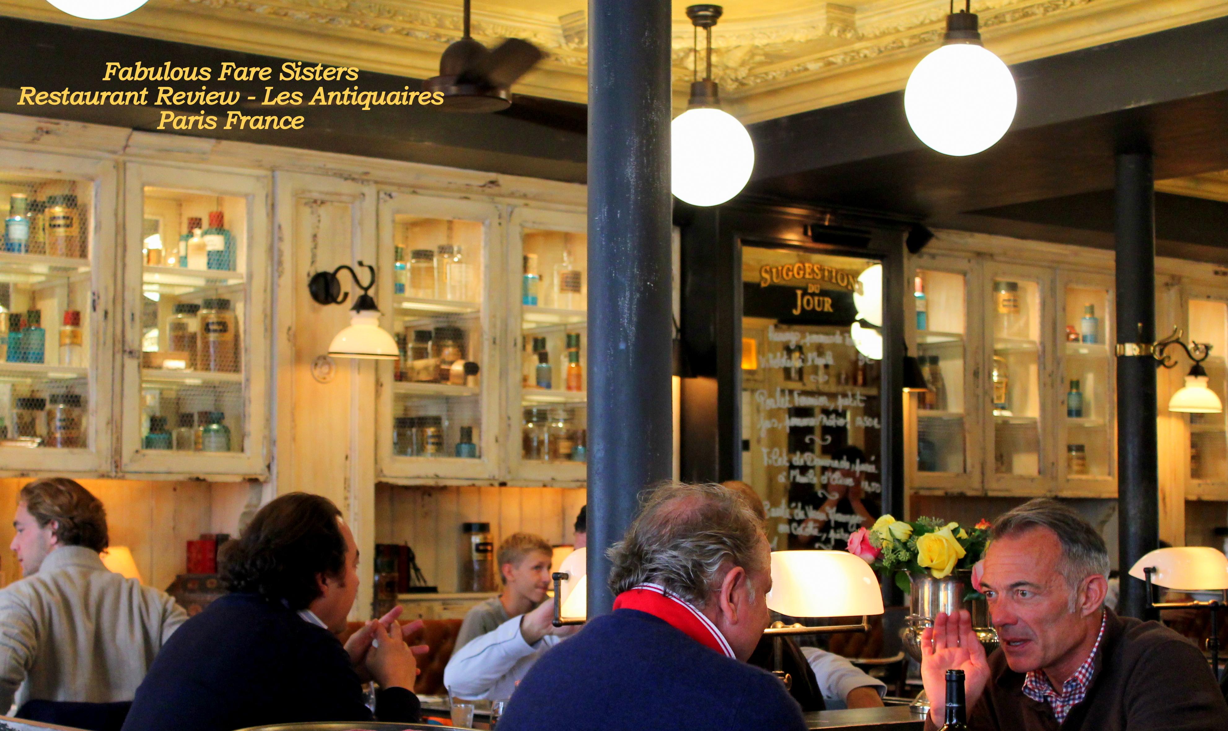 Restaurant Review Les Antiquaires Paris France Fabulous Fare Sisters
