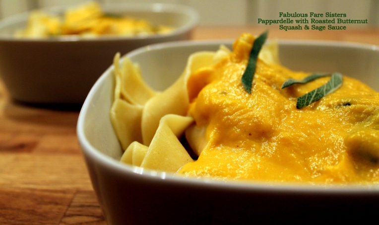 Pappardelle with Roasted Butternut Squash & Sage Sauce