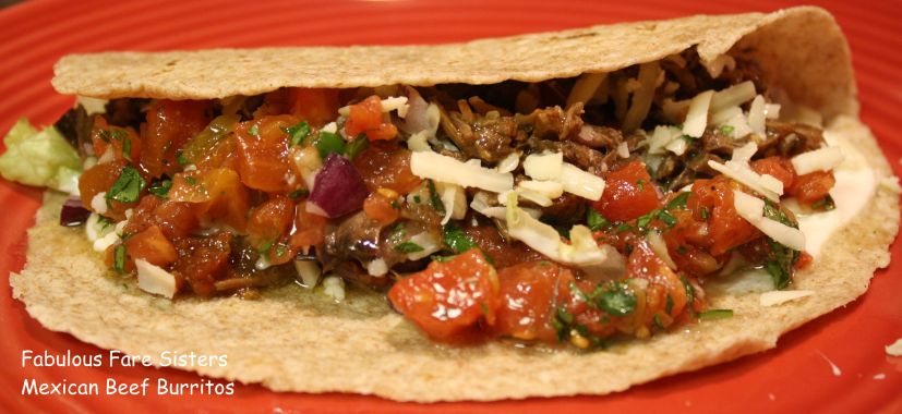 Mexan Beef Burritos