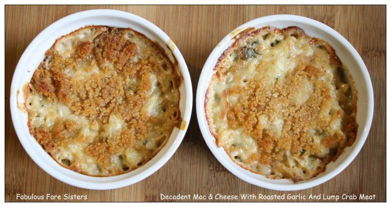 Decadent Mac & Cheese with Roasted Garlic & Lump Crab Meat