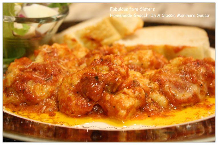 Homemade Gnocchi In A Classic Marinara Sauce