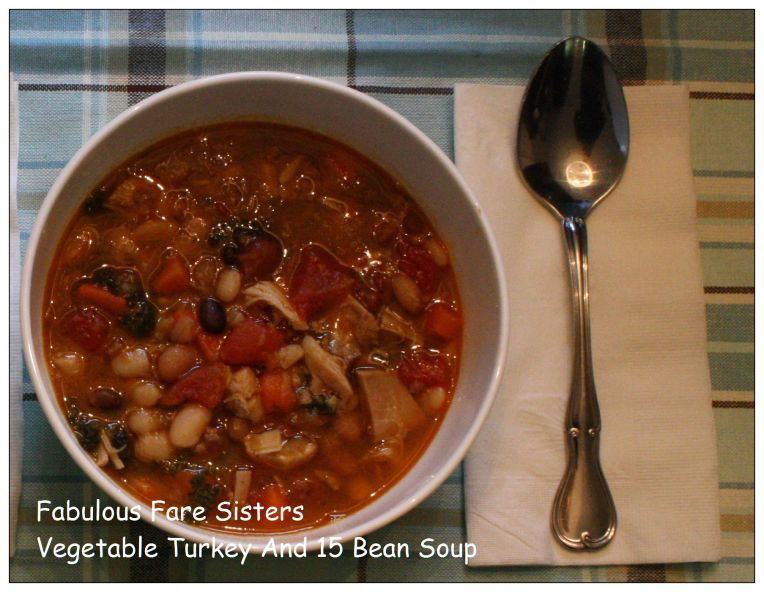 Vegetable Turkey And 15 Bean Soup 2
