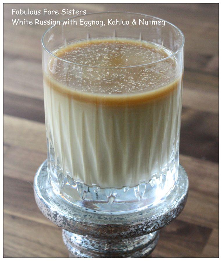 White Russian With Eggnog, Kahlua & Nutmeg