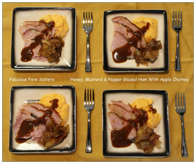 Honey, Mustard & Pepper Glazed Ham With Apple Chutney 5