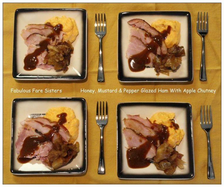 Honey, Mustard & Pepper Glazed Ham With Apple Chutney 5