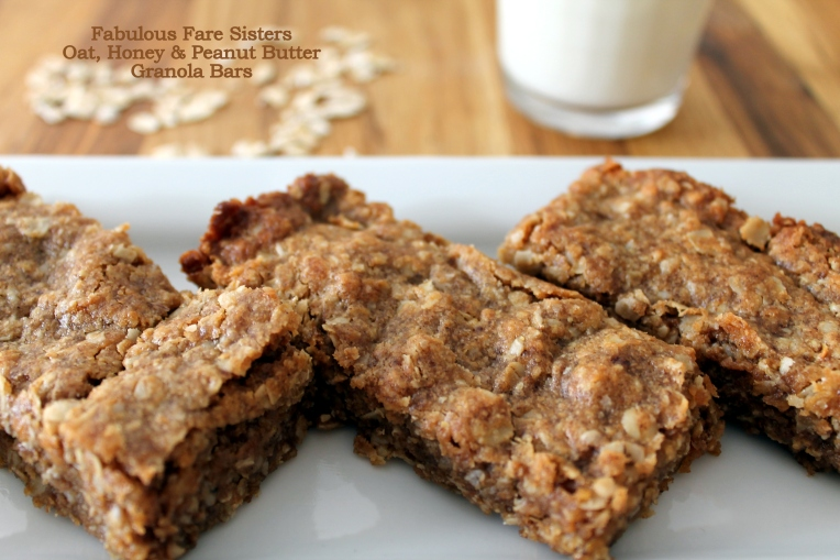 Oat, Honey & Peanut Butter Granola Bars