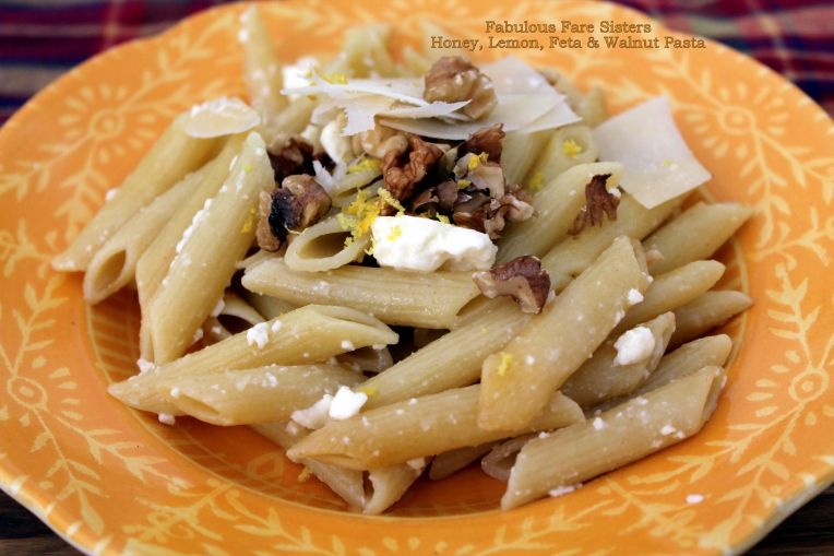 Honey, Lemon, Feta & Walnut Pasta
