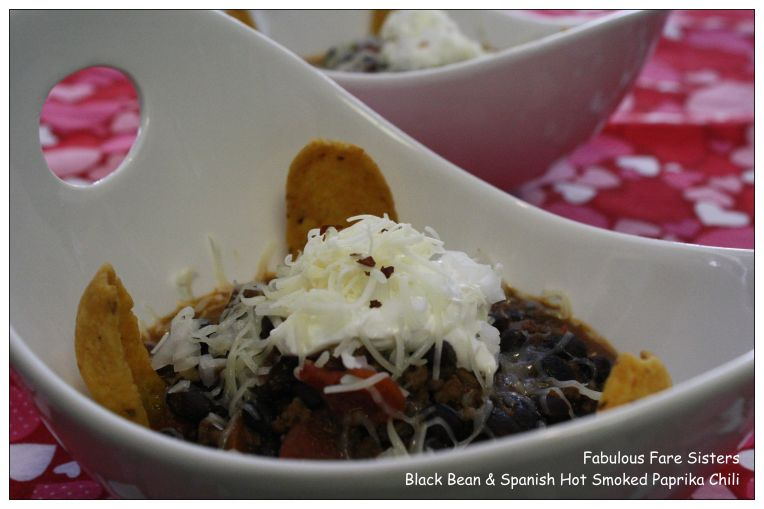 Black Bean & Spanish Hot Smoked Paprika Chili 1