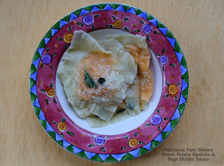 Sweet Potato Raviolis & Sage Butter Sauce