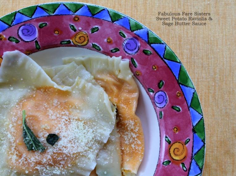 Sweet Potato Raviolis & Sage Butter Sauce