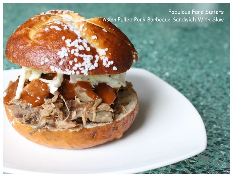 Asian Pulled Pork Barbecue Sandwich With Slaw 4