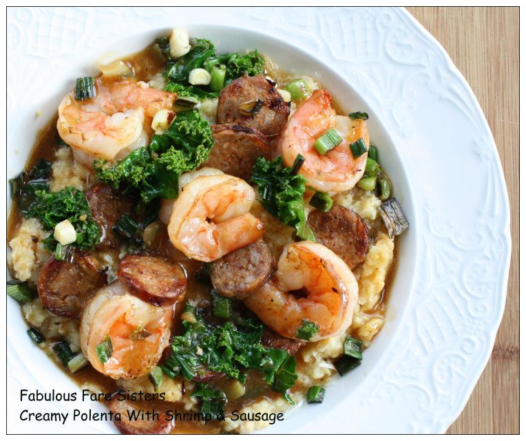 Creamy Polenta With Shrimp & Sausage 2
