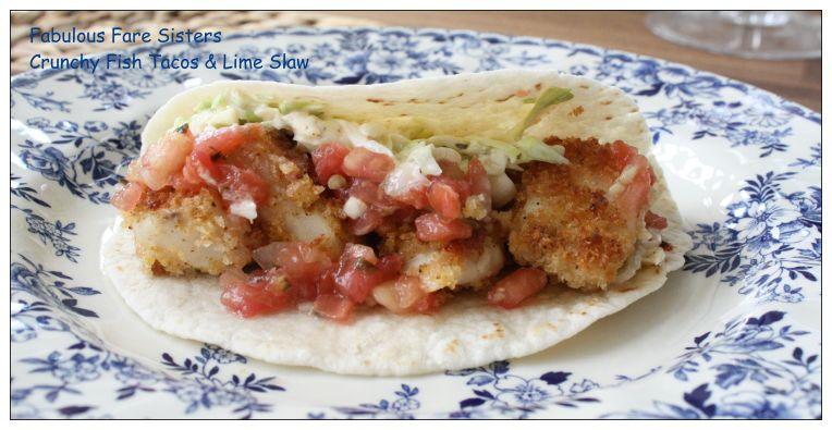 Crunchy Fish Tacos & Lime Slaw