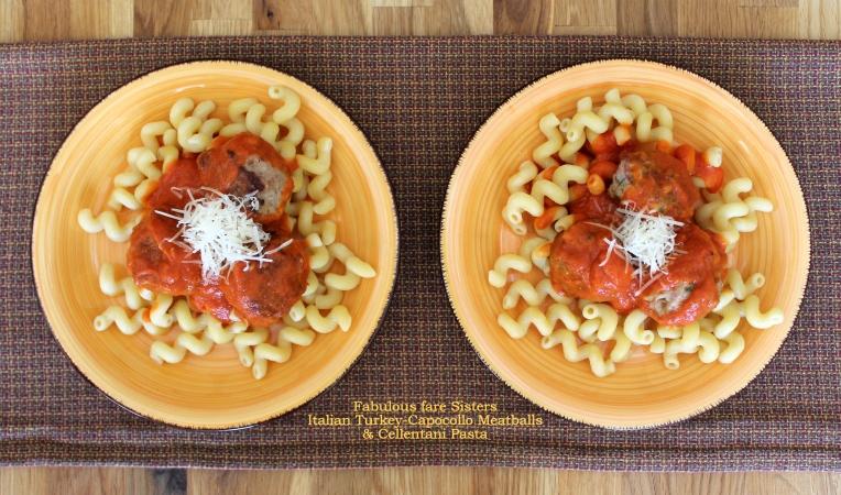Italian Turkey-Capocollo Meatballs & Cellentani Pasta