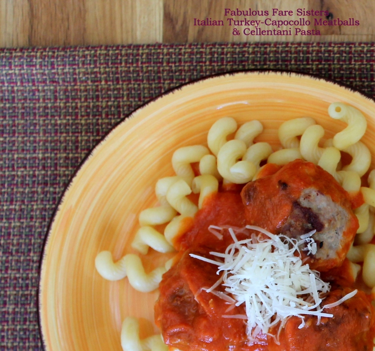 Italian Turkey-Capocollo Meatballs & Cellentani Pasta