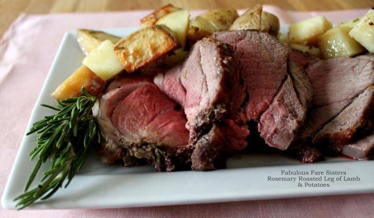Rosemary Roasted Leg of Lamb & Potatoes
