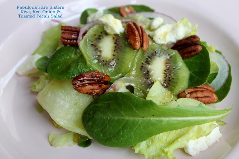 Kiwi, Red Onion & Toasted Pecan Salad