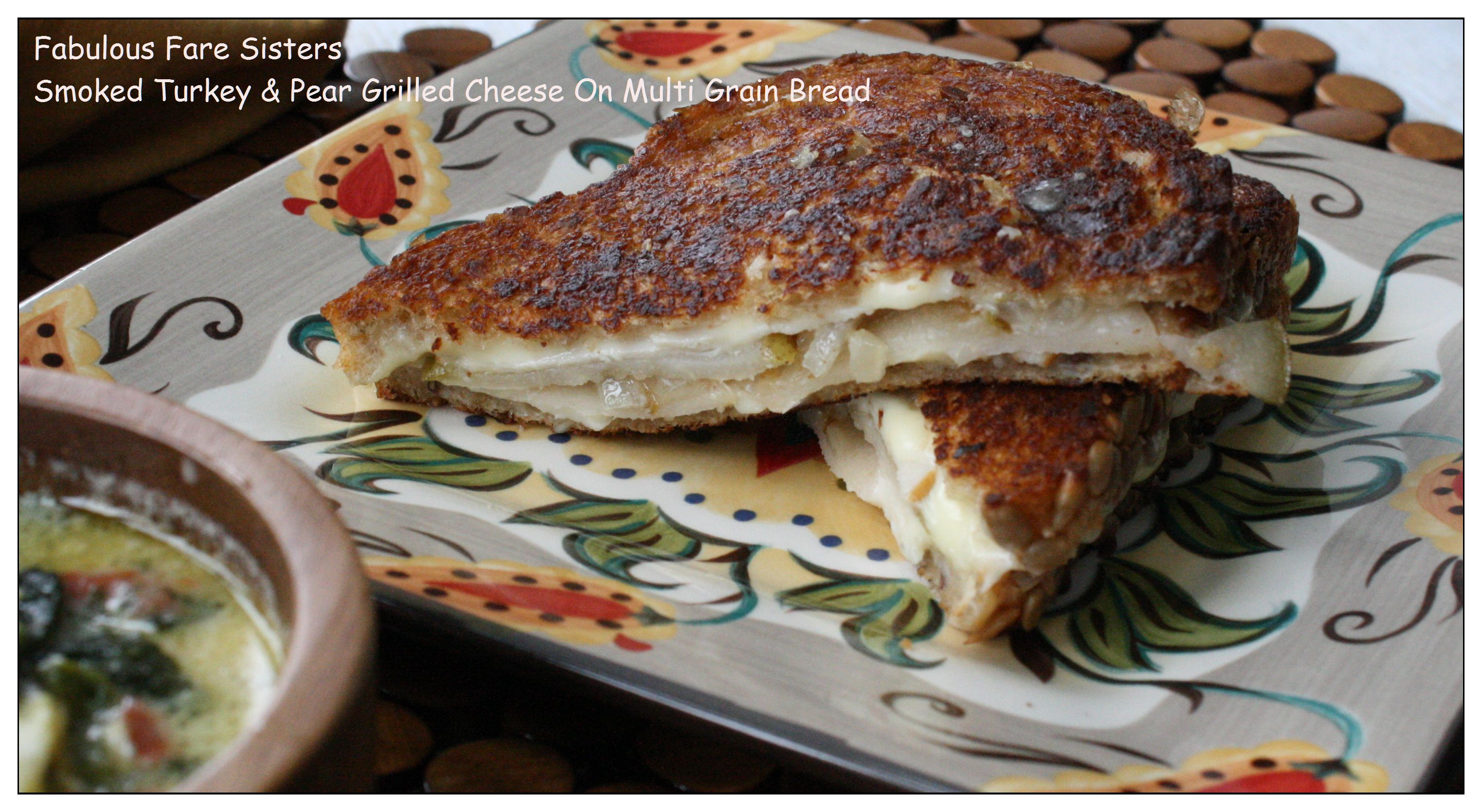 Smoked Turkey & Pear Grilled Cheese On Multi Grain Bread 4