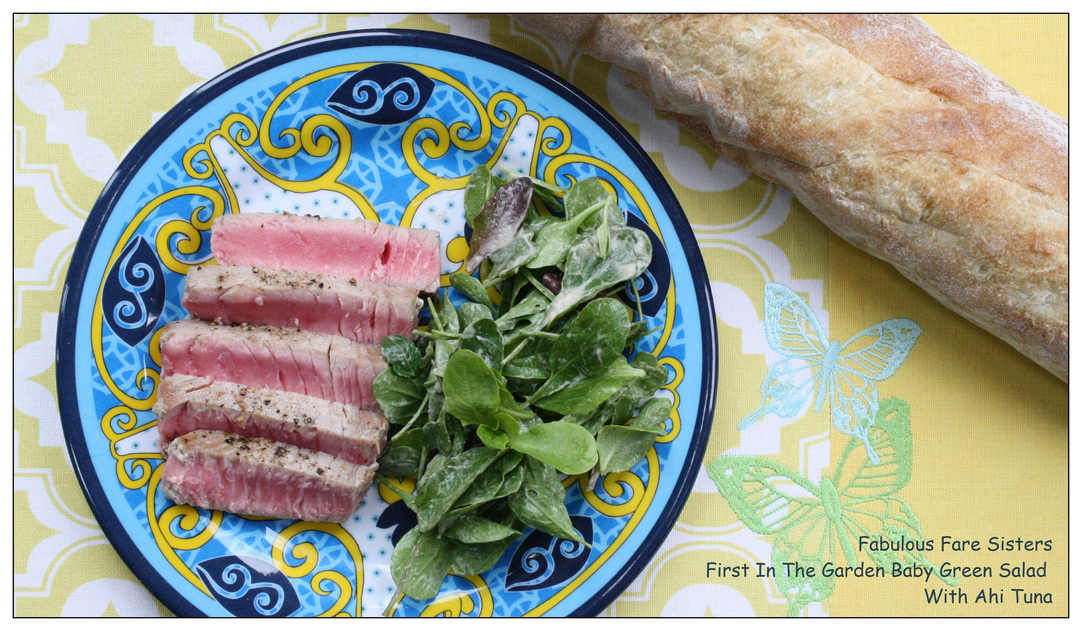 Baby Green Salad With Ahi Tuna