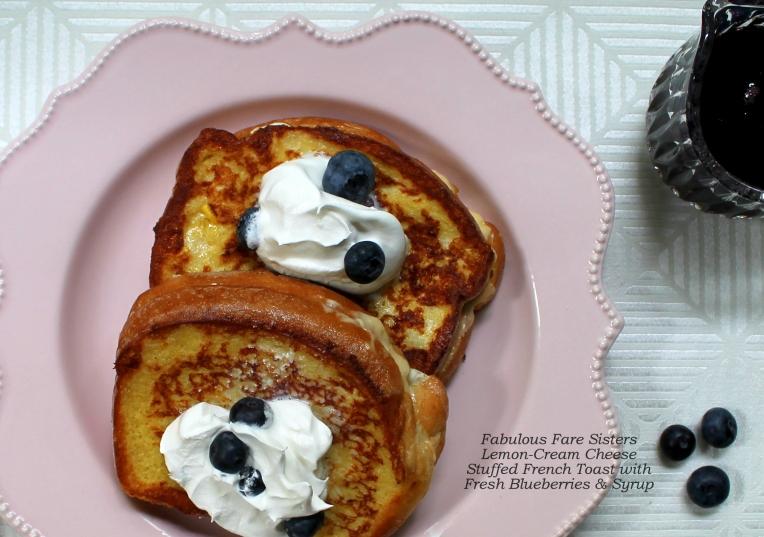 Lemon Cream-Cheese Stuffed French Toast