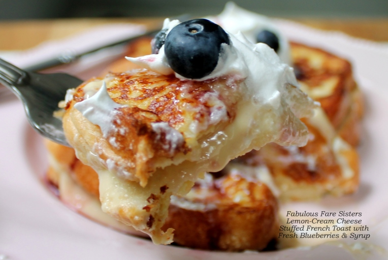 Lemon Cream-Cheese Stuffed French Toast