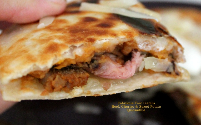 Beef, Chorizo & Sweet Potato Quesadillas