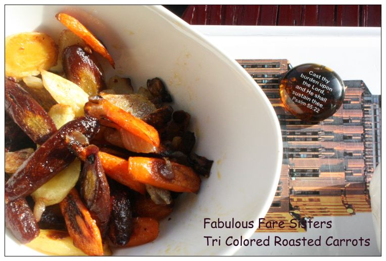 Tri Colored Roasted Carrots 8