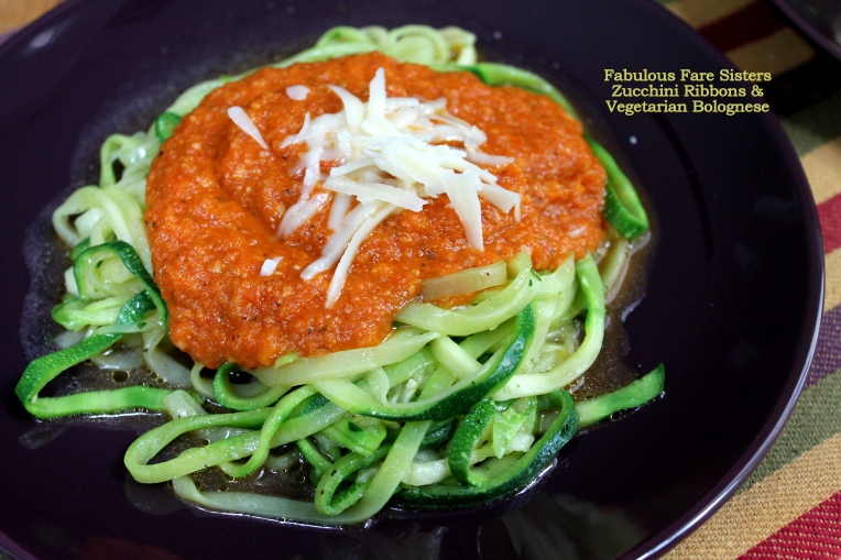 Zucchini Ribbons & Vegetarian Bolognese